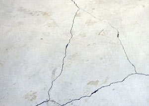 cracks in a slab floor consistent with slab heave in Taunton.