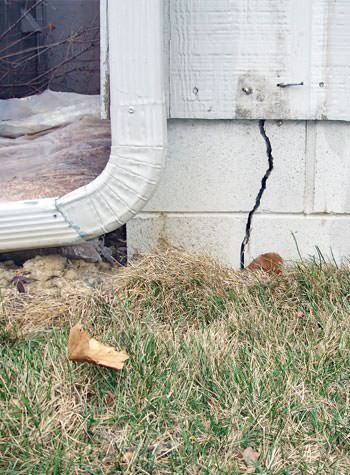 foundation wall cracks due to street creep in Amherst