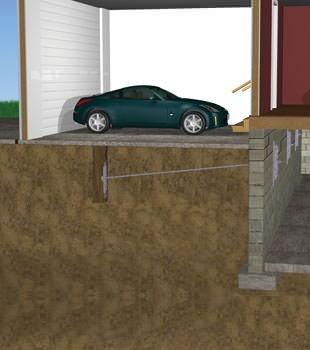 Graphic depiction of a street creep repair in a Marlborough home