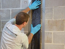 CarbonArmor® Strip applied to wall in New Bedford